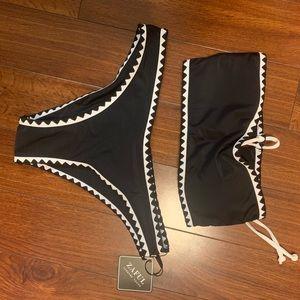 Black Bandeau Bikini